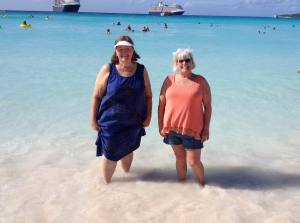 Beautiful powdery white beach and vibrant aqua water
