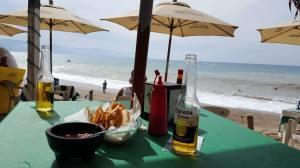 Burros Bar right on the beach